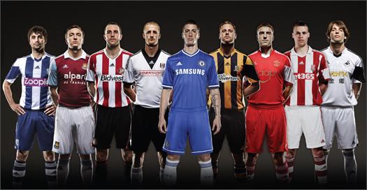 Adidas take massive chunk of Premier League kits   DamianPriday.com